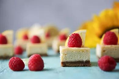 Lemony-Raspberry Cheesecake Bars