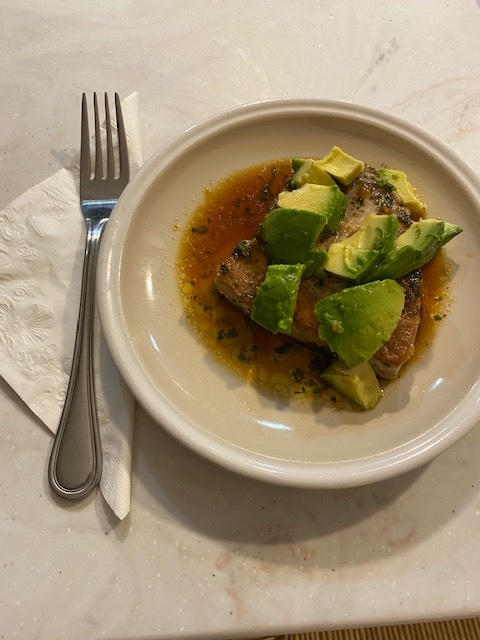 Pan Seared Tuna Steak with Avocado, Ginger & lime