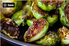 Roasted Brussel Sprouts with Apples & Pistachios